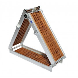 Gangway model Light with Teak 2x folding 2m and 2.5m